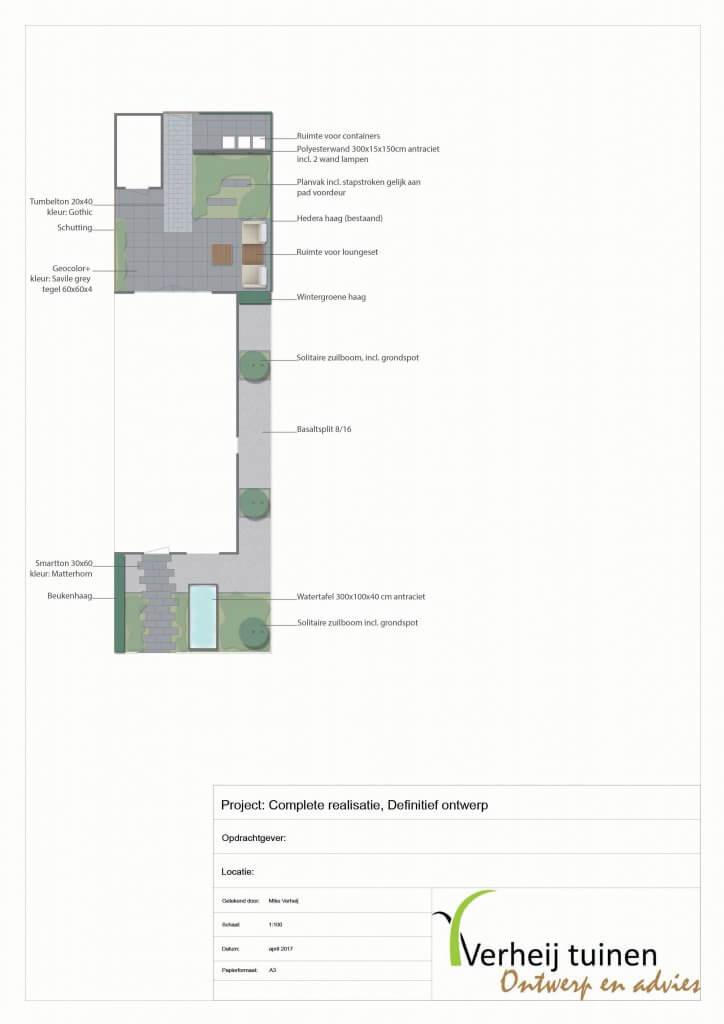 Tuin design hoekwoning